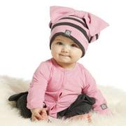 Baby Girls Carnation Pink Charcoal Orchid Designer Romper 24M