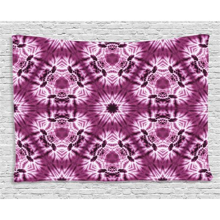 Tie Dye Decor Tapestry, Indonesian Oriental Trippy Motive with ...