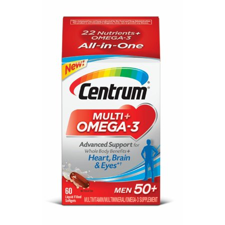 Centrum Men 50+ Multivitamin + Omega-3 Softgels, 50