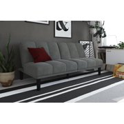 Best Futons - Mainstay Channel Cushion Futon, Multiple Colors, Gray Review