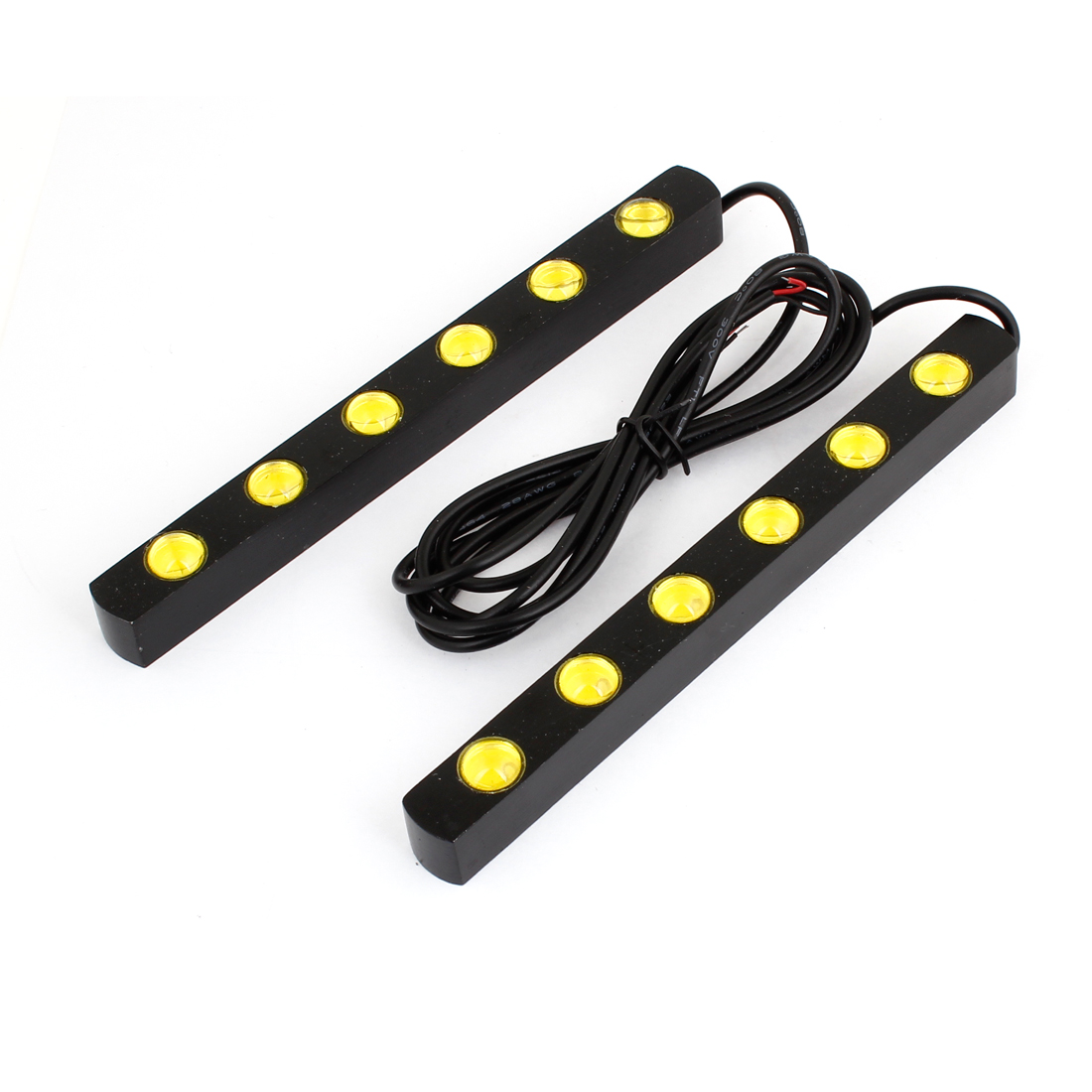 Unique Bargains 2PCS 6  Yellow Eagle Eye Daytime Running Light Lamp for Car Auto