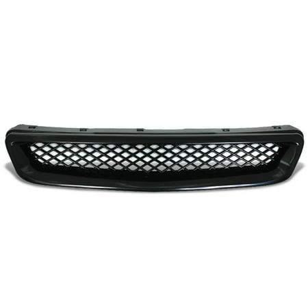 For 96-98 Honda Civic ABS Plastic Type-R Mesh Style Front Grille (Black) - 6th Gen EJ EK EM 97 - Aps Mesh
