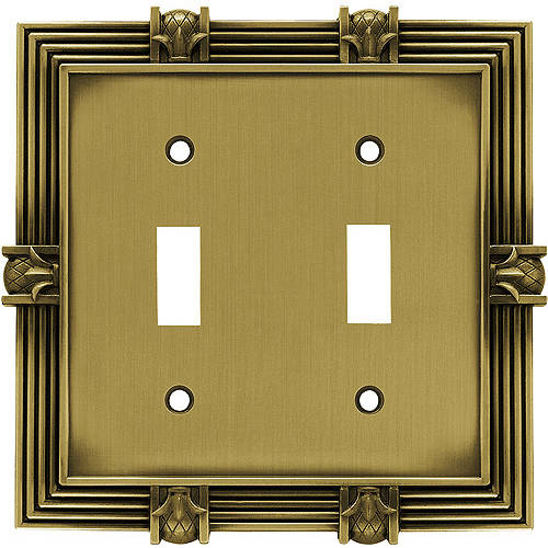 Brainerd Pineapple Double Switch Wall Plate, Pewter