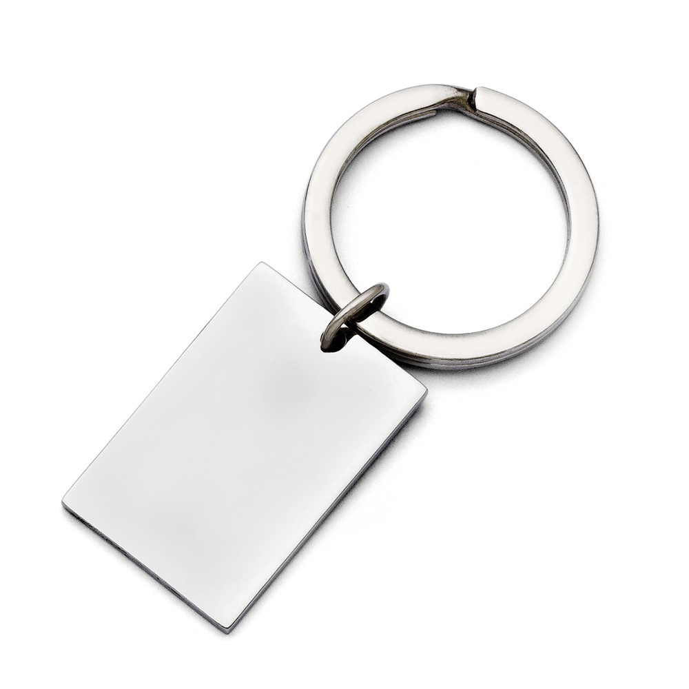 Stainless Steel Polished Key Ring (21mm x 32mm) by AA Jewels