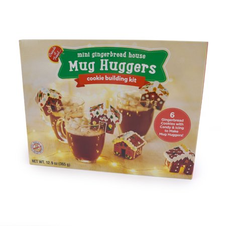 No-Bake, Gingerbread Mug Hugger and Hot Chocolate Topper   Decorate and Dunk - Set of 6 Mini Gingerbread
