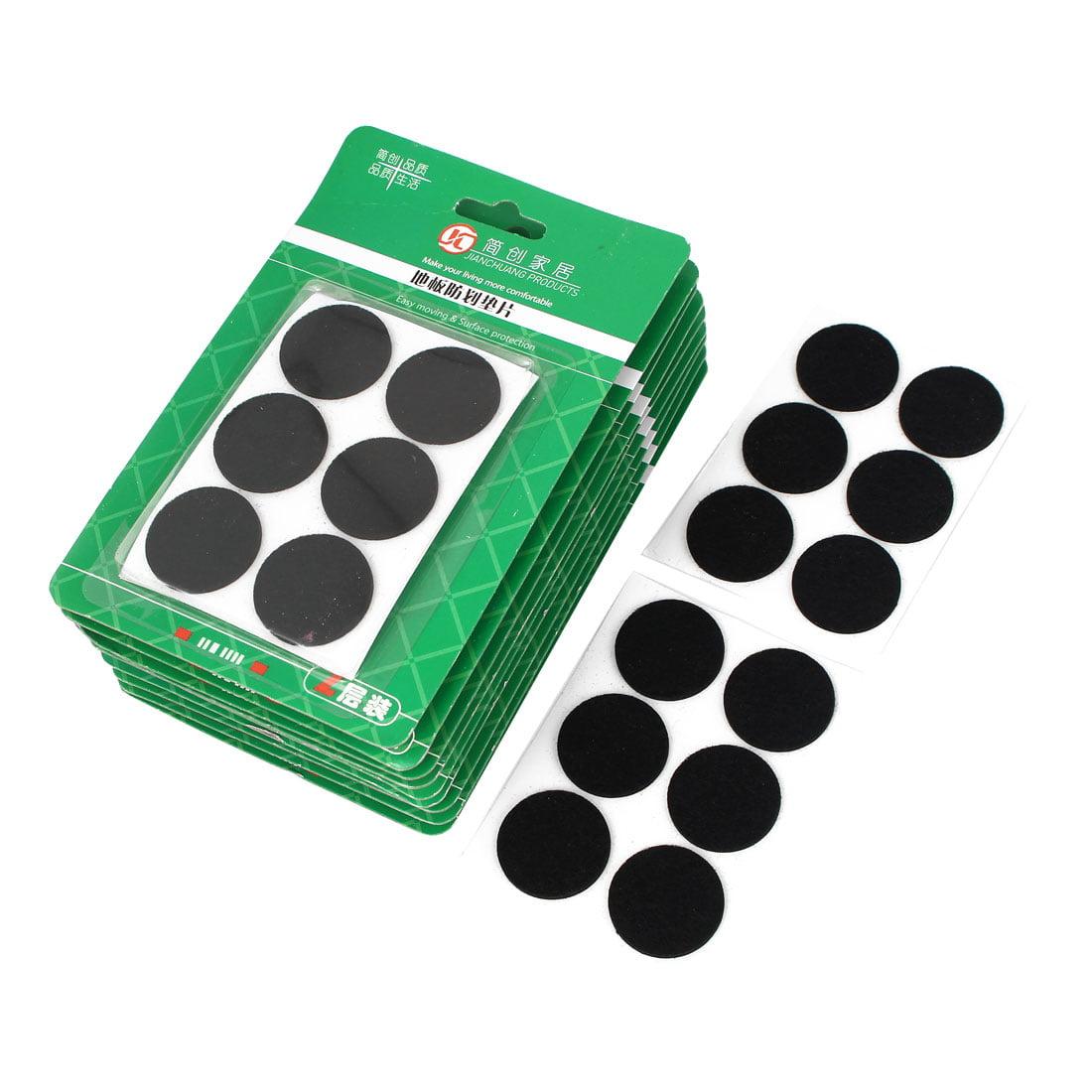 30mm Dia Furniture Feet Antiskid Adhesive Pad Felt Floor Protector Black 120pcs - image 2 of 2