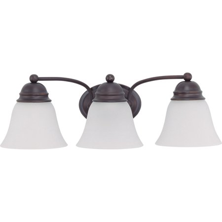 Bathroom Vanity 3 Light With Mahogany Bronze Finish Medium Base 21 inch 31.5