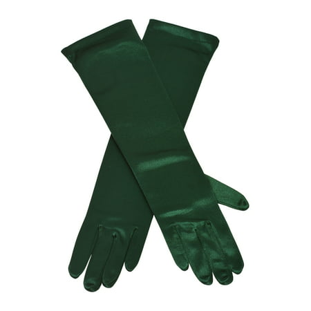 Girls Adult Multi Color Satin Elbow Length Special Occasion Gloves