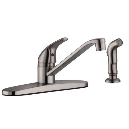 Design House 583997 Middleton Single Handle Kitchen Faucet with Side spray, Satin Nickel ()