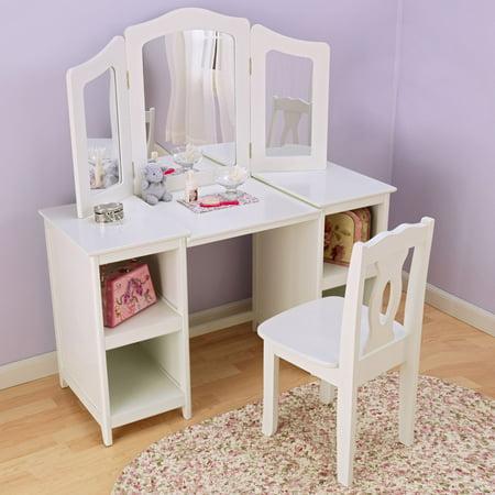 desk used as vanity. KidKraft  Deluxe Vanity Chair Walmart com