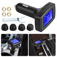 Car TPMS Wireless Tire Pressure Monitoring System LCD + 4 External Sensors