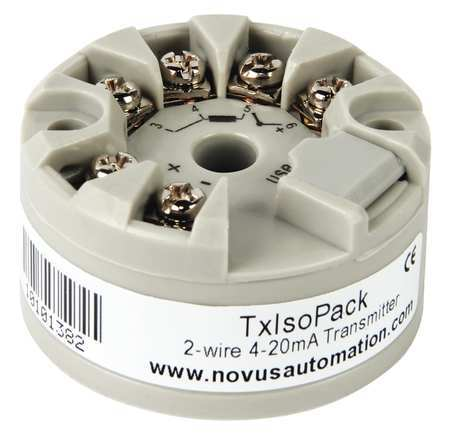 NOVUS TxIsoPack Temperature Transmitter,USB,4-20 mA