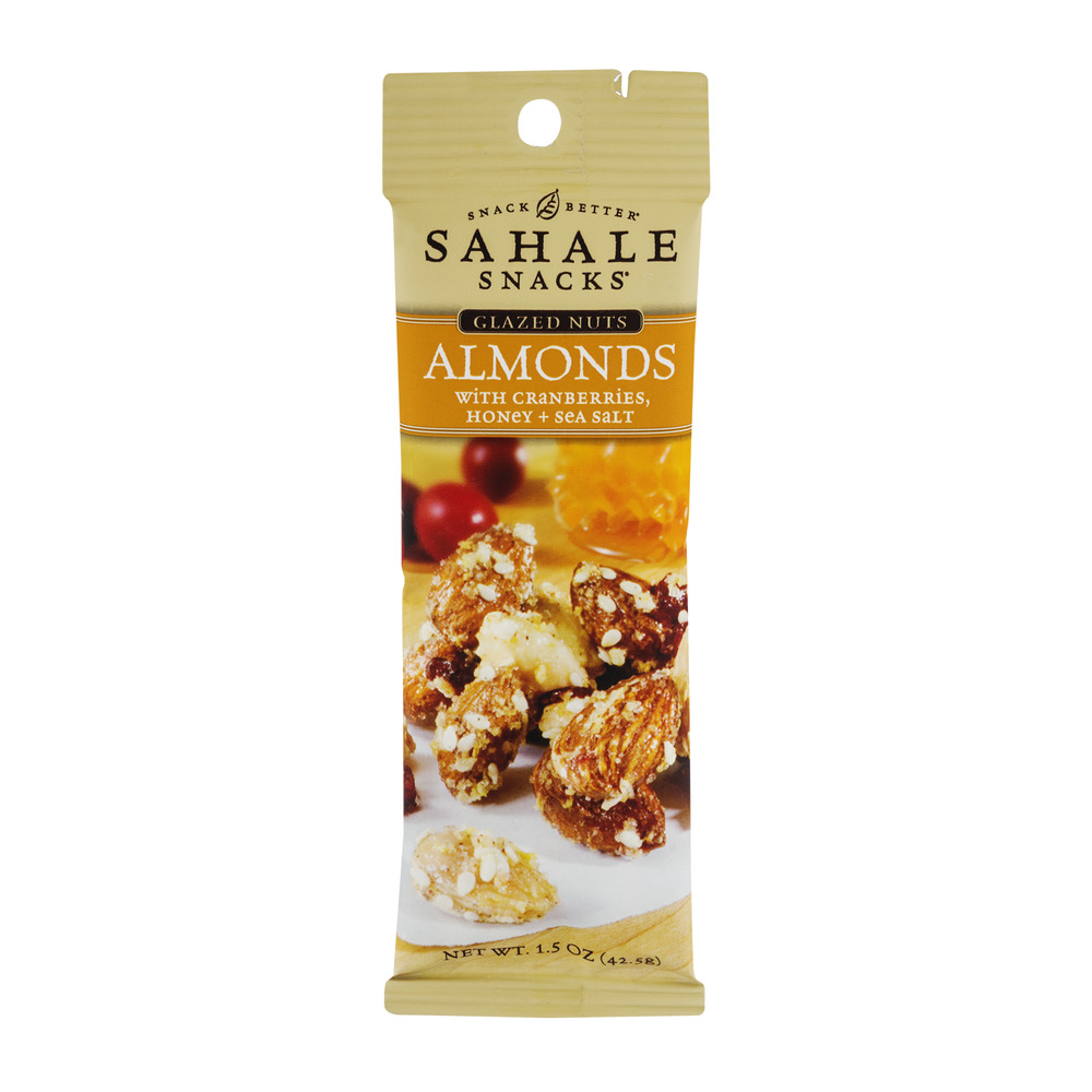 Sahale Snacks Glazed Nuts Almonds with Cranberries, Honey + Sea Salt, 1.5 OZ