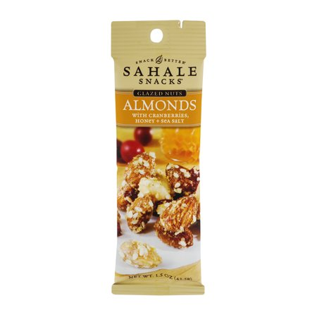 Sahale Snacks Glazed Nuts Almonds with Cranberries, Honey + Sea Salt, 1.5 (Honey Glazed Walnuts)