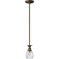 Mini Pendants 1 Light With Pearl Bronze Clear Optic Cast Aluminum Medium Base 5 inch 100 Watts