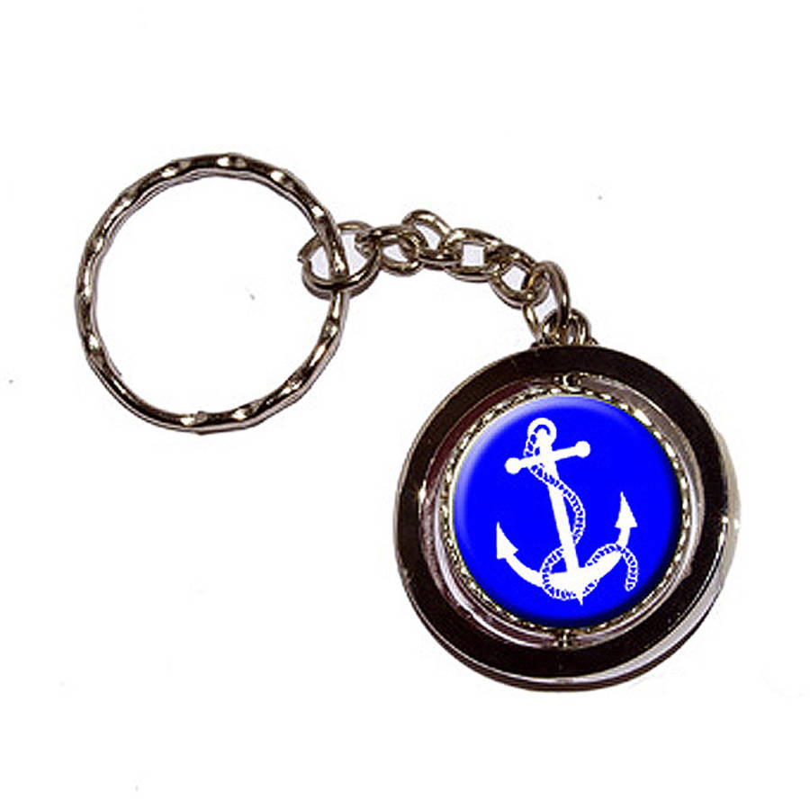 Anchor And Rope Boat Boating New Keychain Ring
