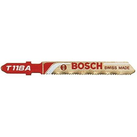 Bosch Power Tools 114-T118A 3 Inch 24Tpi Hss Jig Saw Blade W-Bosch Sha - image 1 of 1