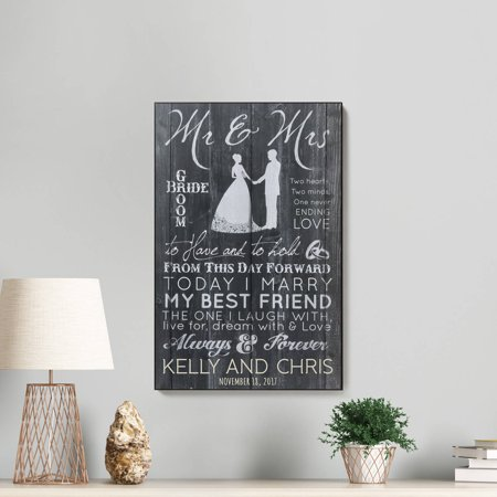 Mr. and Mrs. Personalized Lithograph - Wedding Gift
