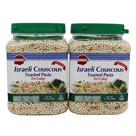 Toasted Israeli Couscous (Baron's Kosher Israeli Tri-color Couscous Toasted Pasta 21.16-ounce Jar (Pack... )