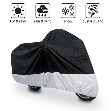 Motorcycle Cover Waterproof Storage (190T UV Protector Waterproof Outdoor Motorbike Scooter Rain Motorcycle Cover L )