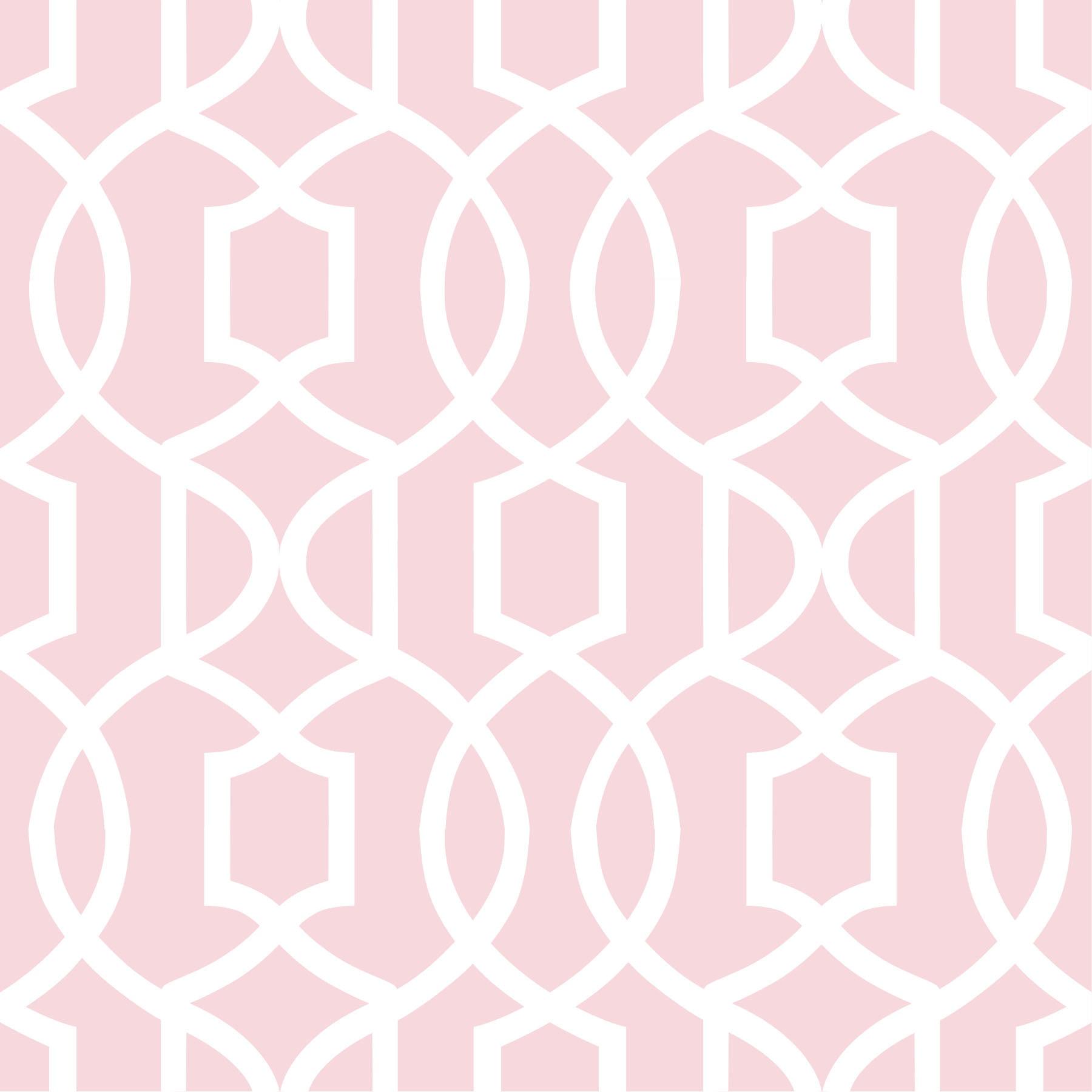NuWallpaper Pink Grand Trellis Peel & Stick Wallpaper Sample