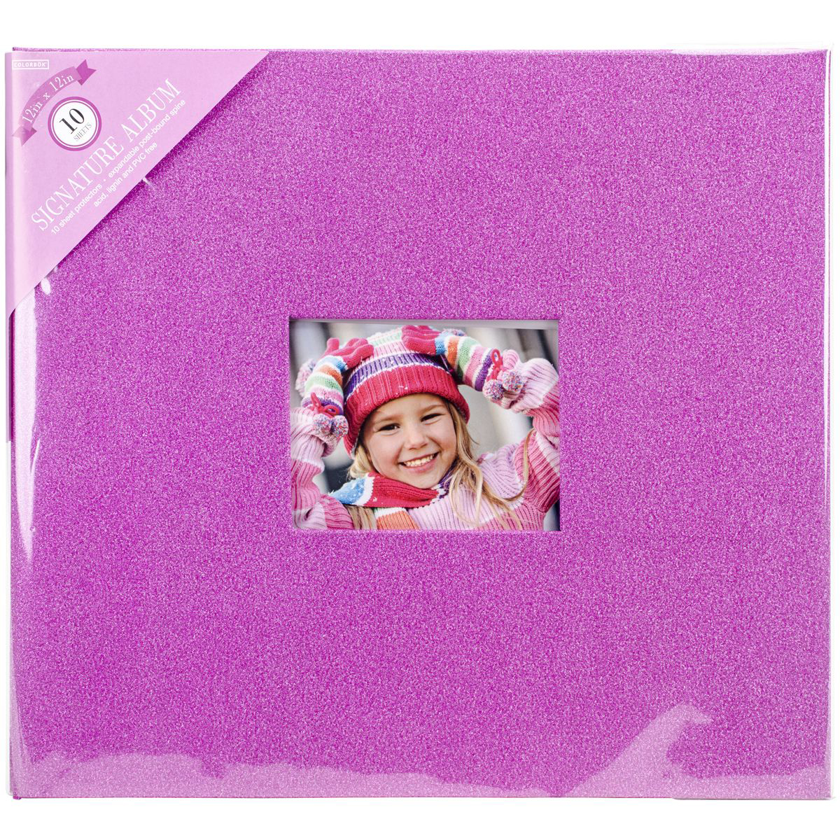 "Colorbok Glitter Post Bound Album, 12"" x 12"""