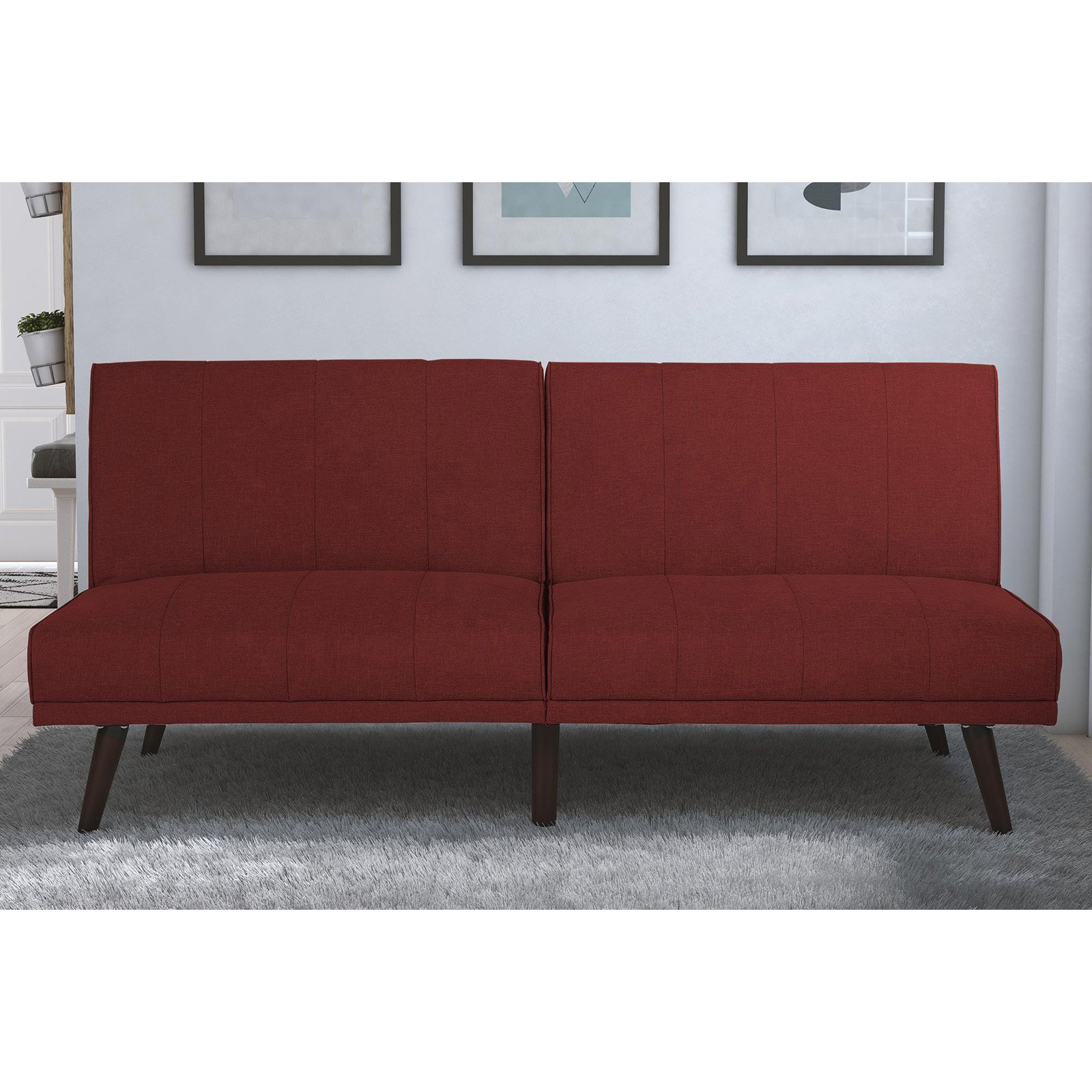 DHP Lone Pine Linen Upholstered Futon, Multiple Colors