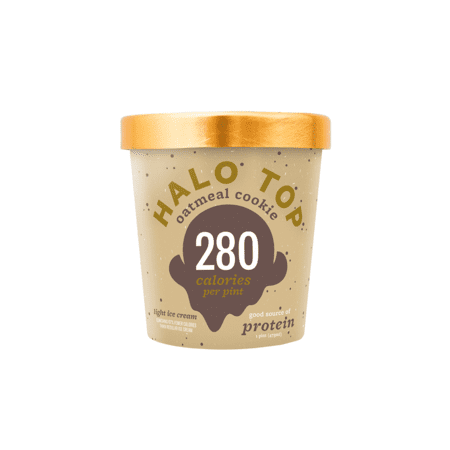 Halo Top, Oatmeal Cookie Ice Cream, Pint (8 Count)
