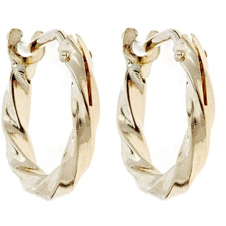 10kt Solid Yellow Gold Twisted Hoop Earrings