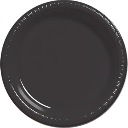 Black Party Supplies 9 inch Plastic Dinner Plates (20 ct) - Planes Party Supplies