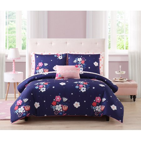 Happiness by Design Melinda Purple Floral Bed in a Bag