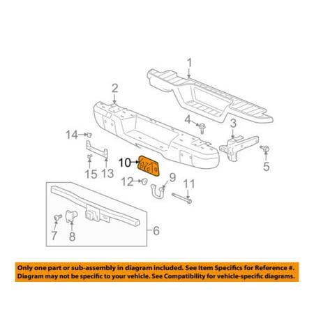 Hummer GM OEM 06-10 H3 FRONT BUMPER-Tow Hook Bracket 15826713 (Hummer H3 Turbo)