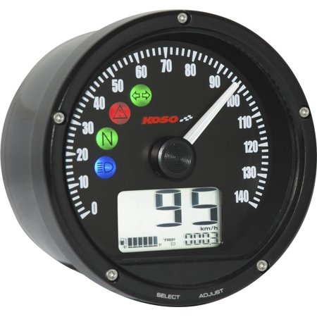 Slipstreamer BA035170-HD TNT-01S Universal Speedo/Tach Combo - Black Face