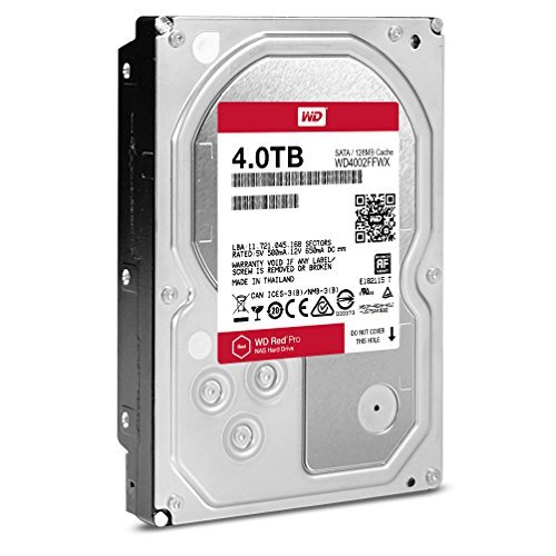 Western Digital Red Pro 4TB 3.5-Inch 7200rpm 64MB Cache NAS Hard Drive (WD4002FFWX) by WD