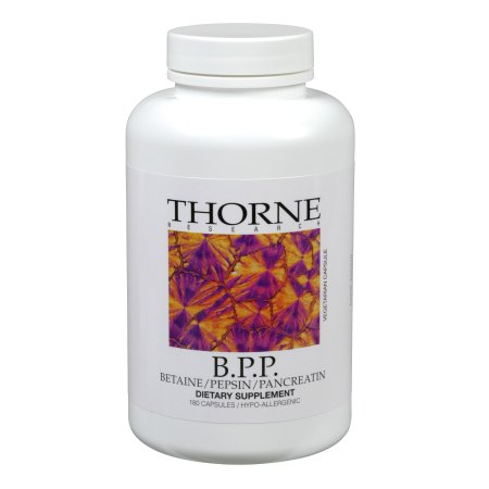 Thorne Research - B.P.P. (Betaine / Pepsin / Pancreatin) - Comprehensive Blend of Digestive Enzymes - 180 Capsules