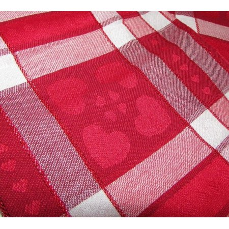 Share the love valentine day red heart plaid tablecloth for Table 52 valentine s day