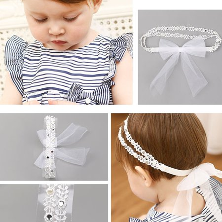 Brand New 70405 Girl Hair Accessories Lace Flower Headwear Cute Elastic Headband - image 6 of 7