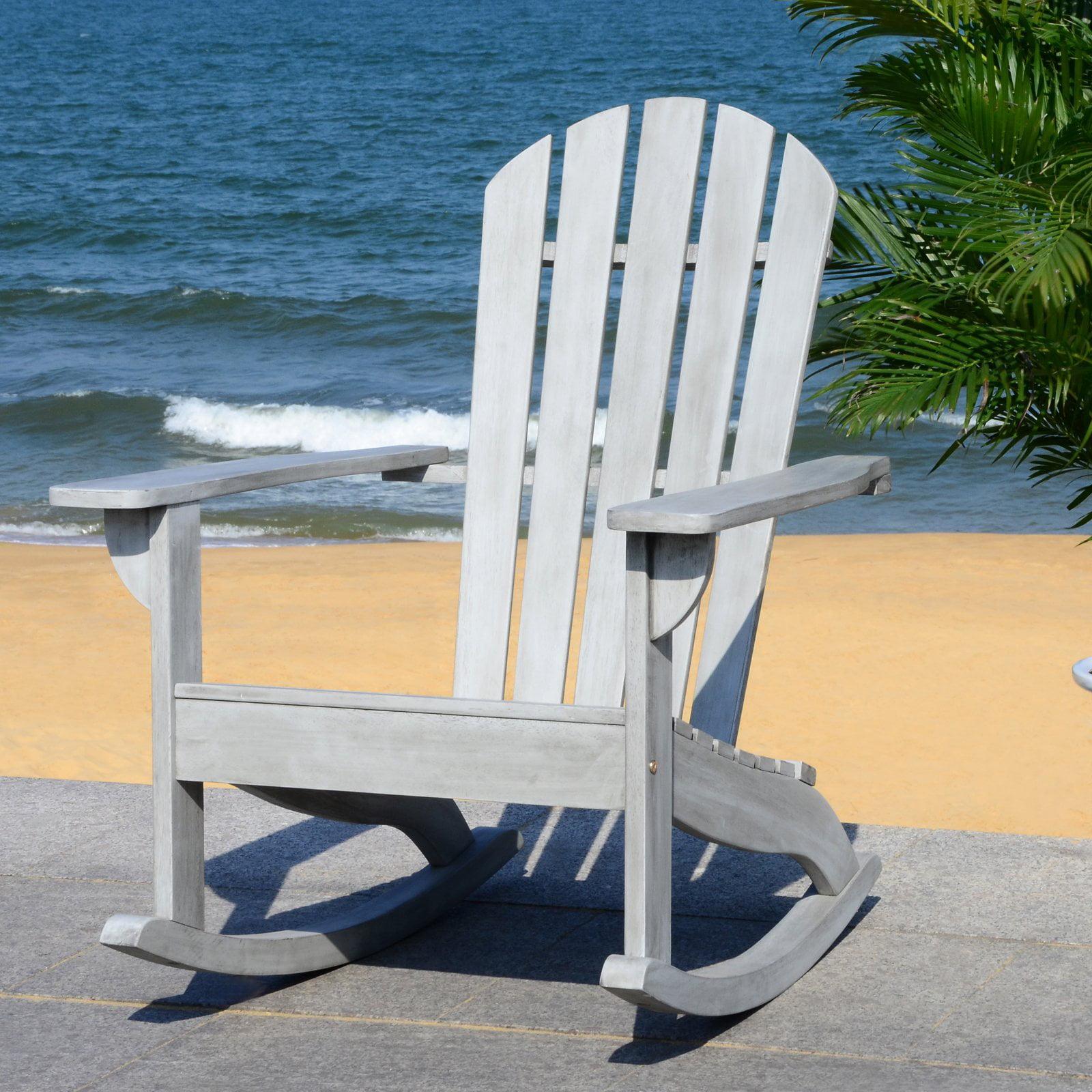 Safavieh Brizio Outdoor Adirondack Slat Back Rocking Chair