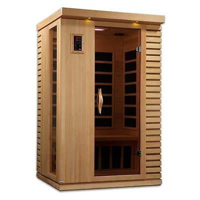 Pool Ultra Low EMF Vicenza 2 Person Far Infrared Sauna, 77 x 48 x 42 in. [Istilo239774] by GSS