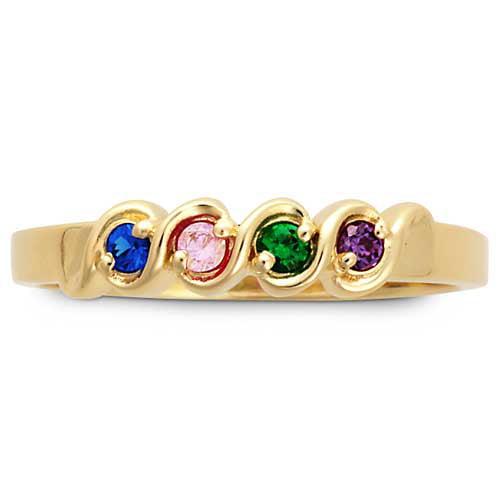 keepsake personalized flirtation s birthstone ring