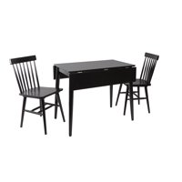 Connor Mid-Century Modern Drop Leaf Dining Table Set with 2 Chairs