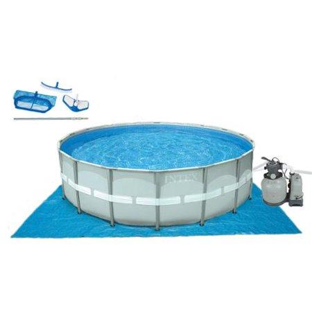 Intex 18 39 X 52 Ultra Frame Swimming Pool Set W Sand Pump