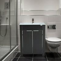 Product Image Homcom Single Sink Bathroom Vanity Cabinet With Ceramic Top