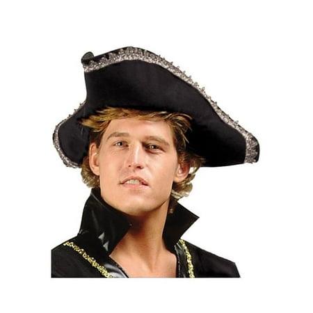 Adult Poplin Colonial Hat - Black