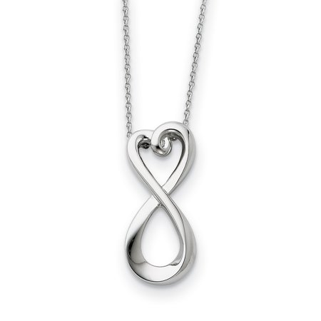 925 Sterling Silver Infinite Love 18 Inch Chain Necklace Pendant Charm S/love Infinity Inspirational Fine Jewelry Ideal Gifts For Women Gift Set From Heart