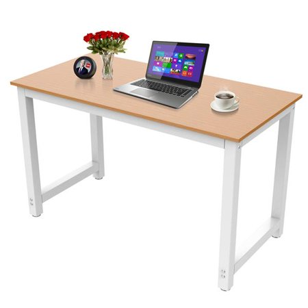 Yaheetech Modern Simple Design Home Office Desk Computer Table Wood Desktop Metal Frame Study Writing Workstation