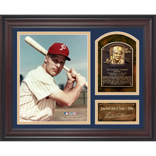 "Richie Ashburn Philadelphia Phillies Fanatics Authentic Framed 15"" x 17"" Baseball Hall of Fame Collage with Facsimile Signature - No Size"