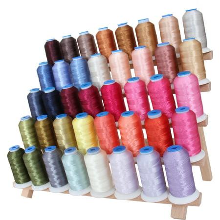Threadart 40 Spool Polyester Embroidery Machine Thread Set Brilliant Colors  1000M Spools 40wt  For Brother Babylock Janome Singer Pfaff Husqvarna Bernina Machines - 4 Sets Available