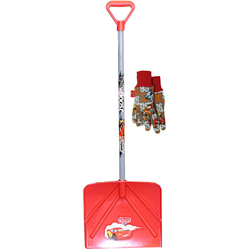 Kids Disney/Pixar Cars Snow Shovel, Includes Kids Jersey Gloves