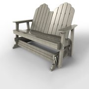 Double Glider by Malibu Outdoor - Yarmouth, Light Gray